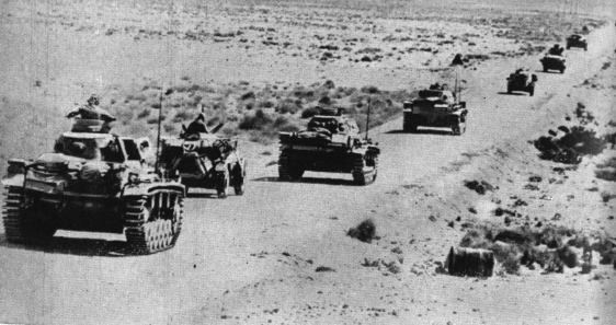 Lest we forget world war ii a column of british tanks in north africa sciox Choice Image